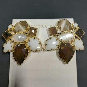 Kendra Scott Clip On Statement Gemstone Earrings